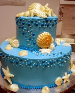 Blue Seashells seashore Cake- 316M