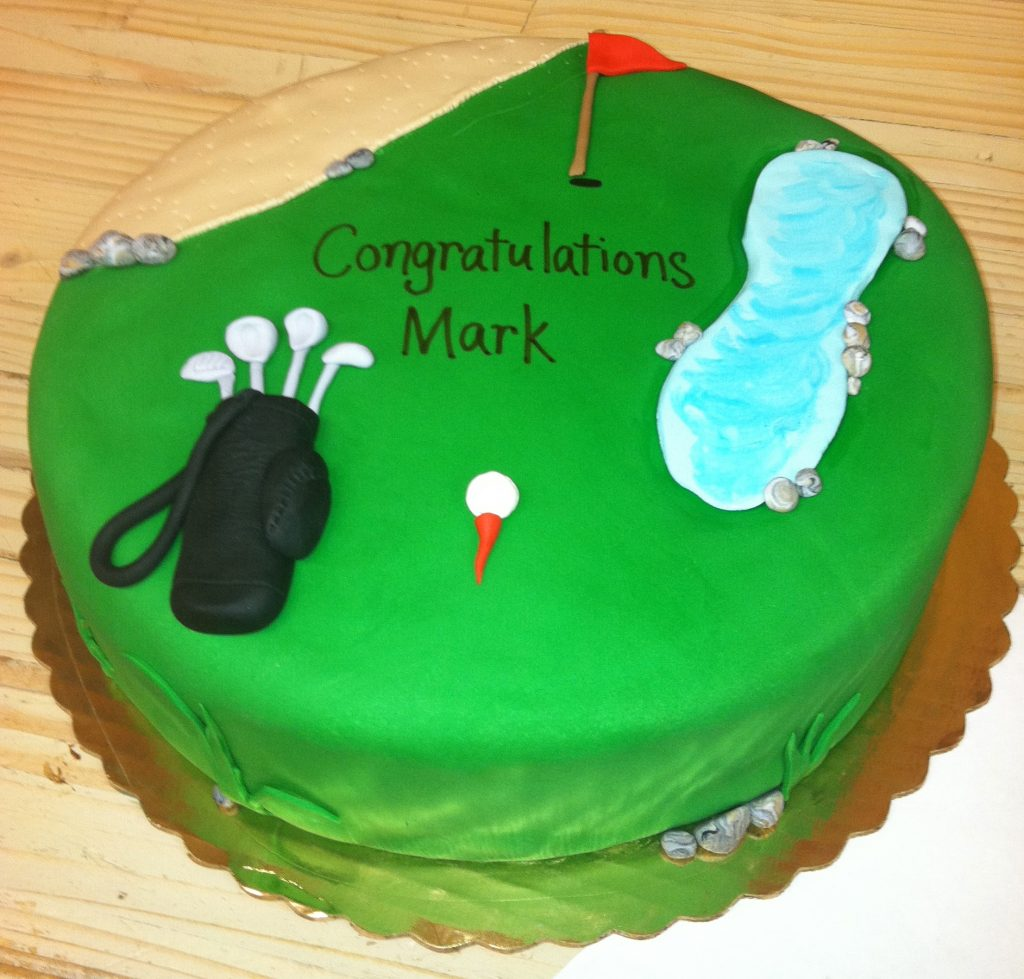 Golf Theme in Fondant - 714M