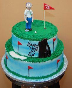 Golf Theme, stacked cake - 561M