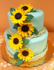 Sunflowers, stacked cake - 726K