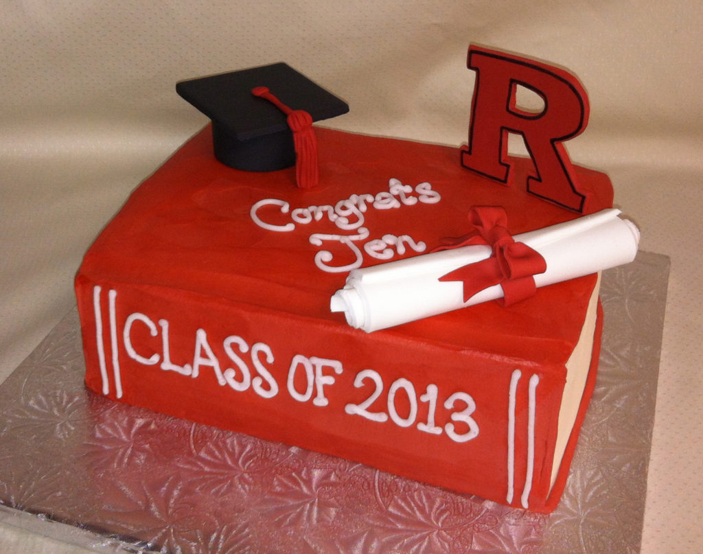 Rutgers Graduation Cake