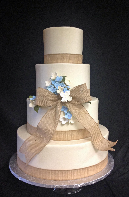 Wedding Cakes Burlap 20