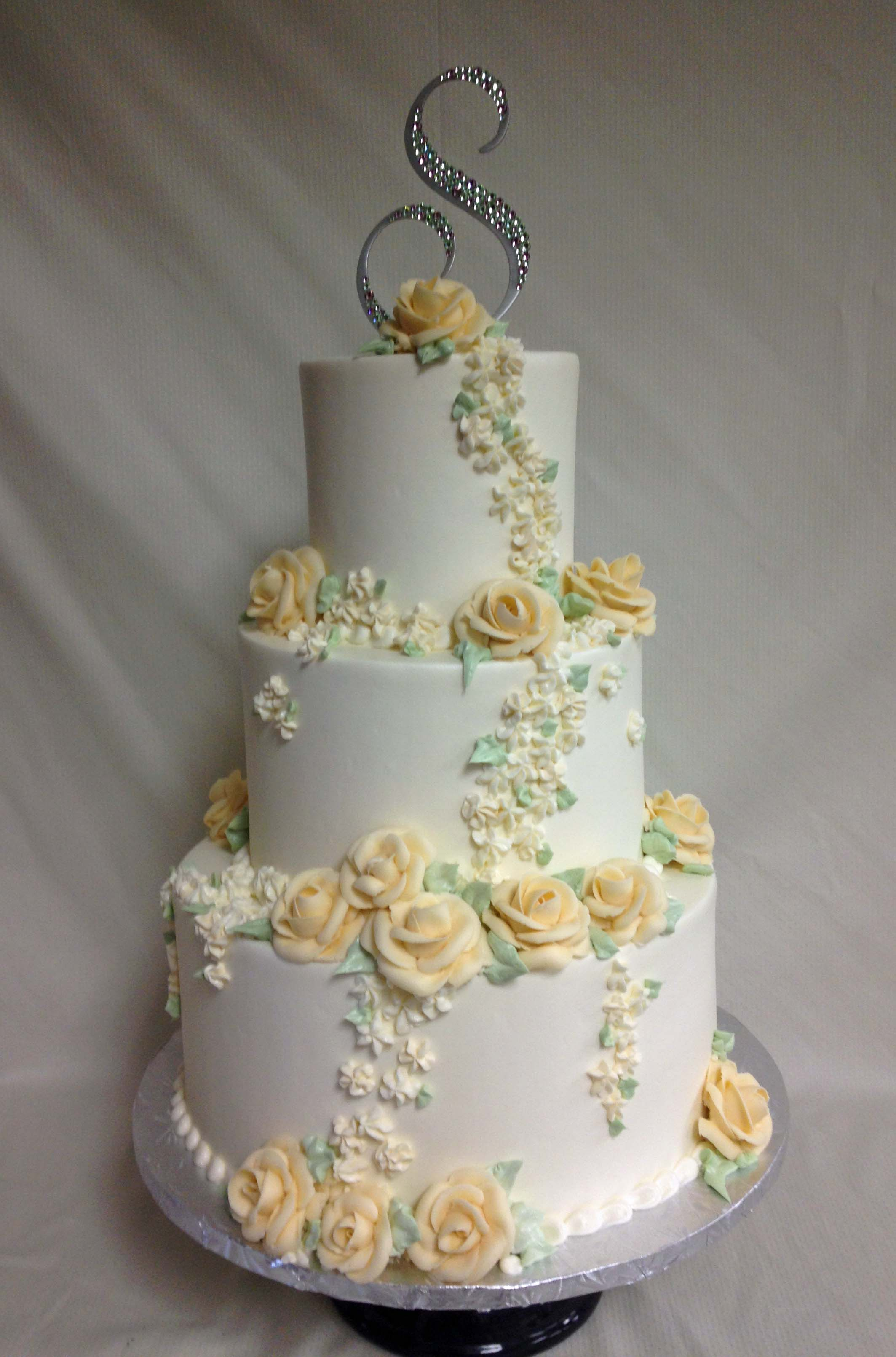 Wedding Cakes Ercream Roses 4