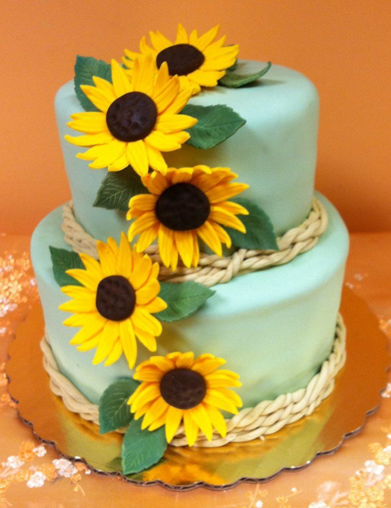Sunflowers, stacked cake - 726K