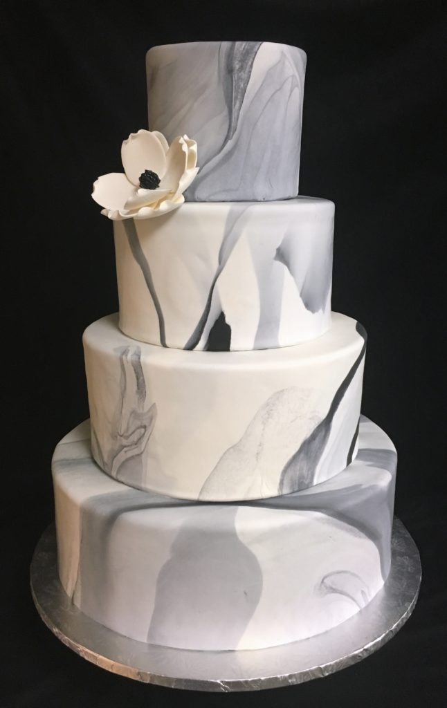 marble wedding cakes wedding cakes fondant marble 1 the bake works 17120