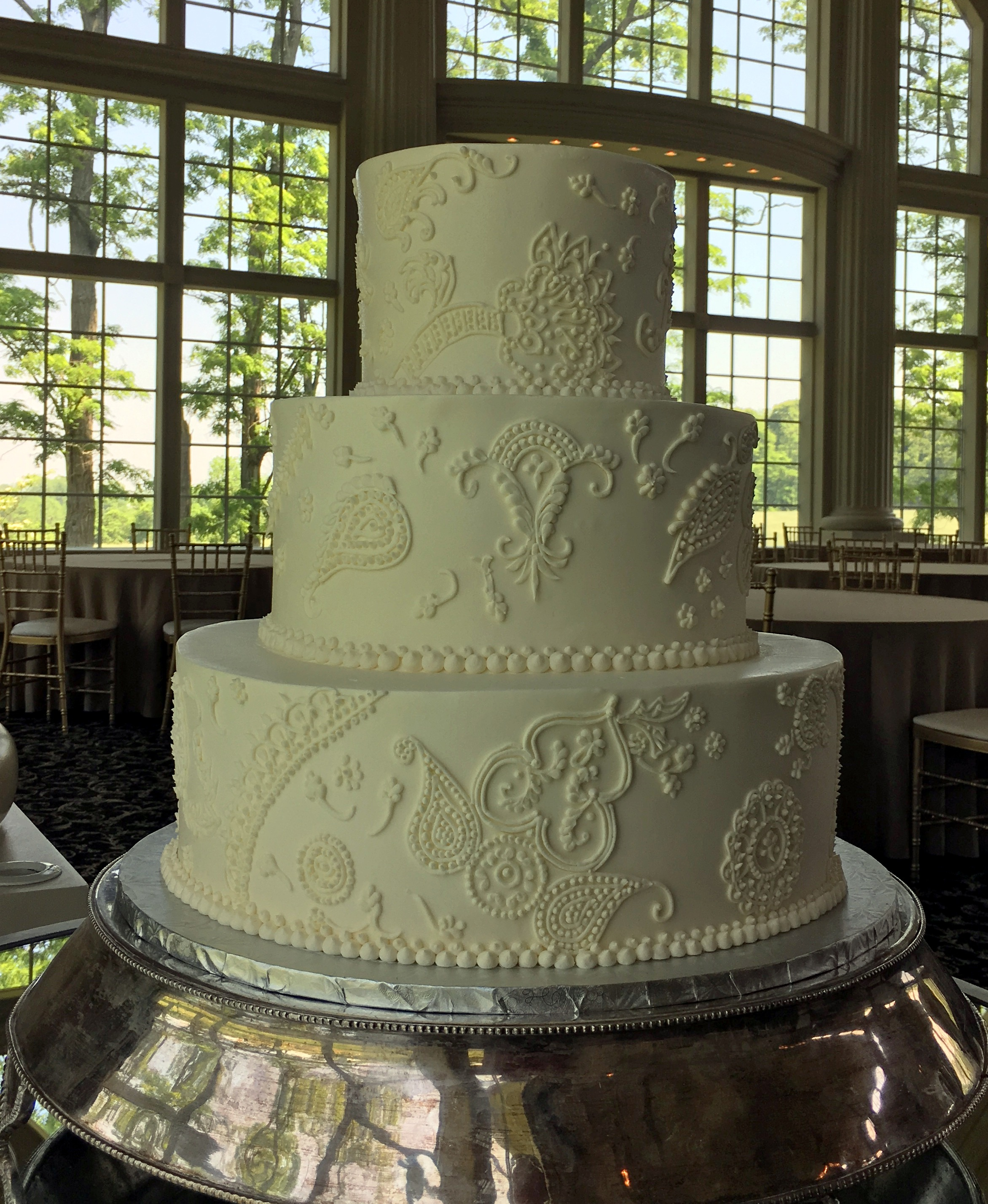 piping wedding cake designs wedding cakes piping 13 the bake works 18614